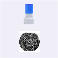 Spinning Out Of Control Rubber Round Stamps (small)