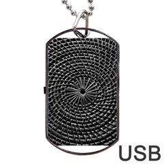Spinning Out Of Control Dog Tag Usb Flash (two Sides)