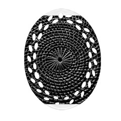 Spinning Out Of Control Oval Filigree Ornament (2 Side)