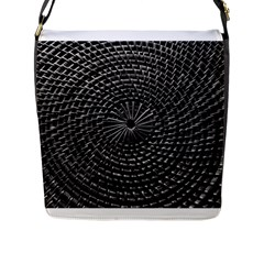 Spinning Out Of Control Flap Messenger Bag (l)