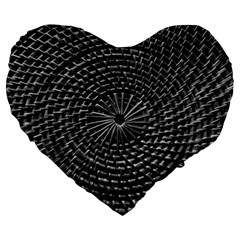 SPinning out of control Large 19  Premium Flano Heart Shape Cushions