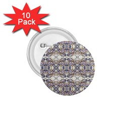 Oriental Geometric Floral Print 1 75  Buttons (10 Pack)