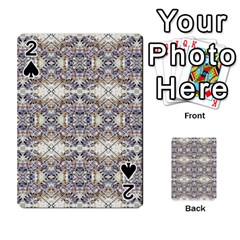 Oriental Geometric Floral Print Playing Cards 54 Designs