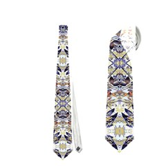 Oriental Geometric Floral Print Neckties (One Side)