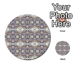 Oriental Geometric Floral Print Multi-purpose Cards (Round)
