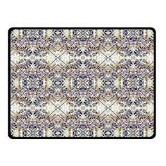 Oriental Geometric Floral Print Fleece Blanket (Small)