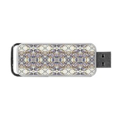 Oriental Geometric Floral Print Portable Usb Flash (one Side)