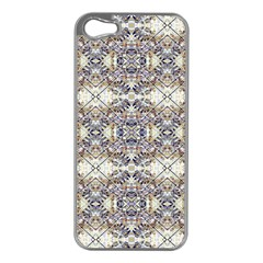 Oriental Geometric Floral Print Apple Iphone 5 Case (silver)