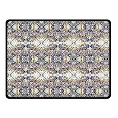 Oriental Geometric Floral Print Double Sided Fleece Blanket (Small)