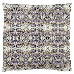 Oriental Geometric Floral Print Large Flano Cushion Cases (Two Sides)