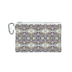 Oriental Geometric Floral Print Canvas Cosmetic Bag (s)