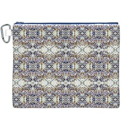 Oriental Geometric Floral Print Canvas Cosmetic Bag (XXXL)
