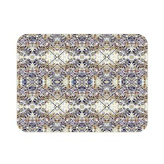 Oriental Geometric Floral Print Double Sided Flano Blanket (Mini)