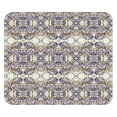 Oriental Geometric Floral Print Double Sided Flano Blanket (Small)