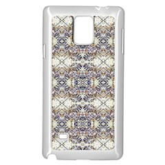 Oriental Geometric Floral Print Samsung Galaxy Note 4 Case (White)