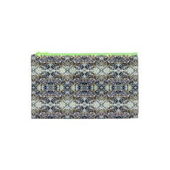 Oriental Geometric Floral Print Cosmetic Bag (XS)