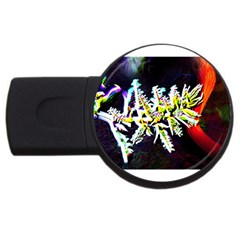 Digitally Enhanced Flower Usb Flash Drive Round (2 Gb)