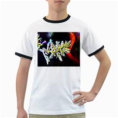 Digitally Enhanced Flower Ringer T-Shirts