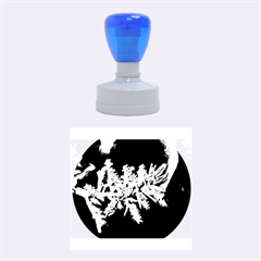Digitally Enhanced Flower Rubber Round Stamps (Medium)