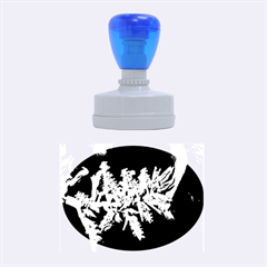 Digitally Enhanced Flower Rubber Oval Stamps