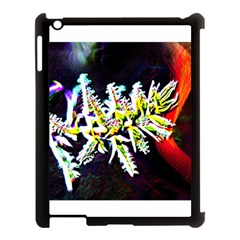 Digitally Enhanced Flower Apple Ipad 3/4 Case (black)