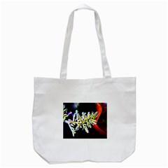 Digitally Enhanced Flower Tote Bag (white)