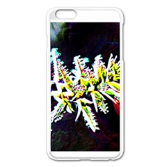 Digitally Enhanced Flower Apple iPhone 6 Plus Enamel White Case