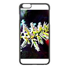 Digitally Enhanced Flower Apple iPhone 6 Plus Black Enamel Case