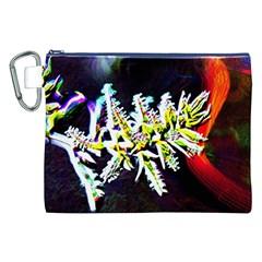 Digitally Enhanced Flower Canvas Cosmetic Bag (XXL)
