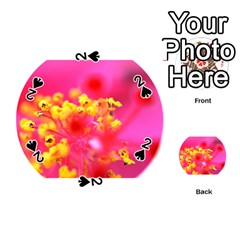 Bright Pink Hibiscus Playing Cards 54 (Round)