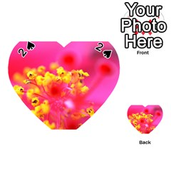 Bright Pink Hibiscus Playing Cards 54 (heart)