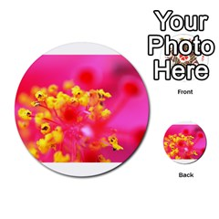 Bright Pink Hibiscus Multi Purpose Cards (round)