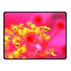 Bright Pink Hibiscus Fleece Blanket (Small)