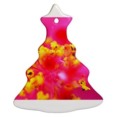 Bright Pink Hibiscus Christmas Tree Ornament (2 Sides)