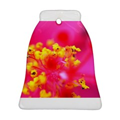 Bright Pink Hibiscus Bell Ornament (2 Sides)