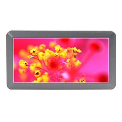Bright Pink Hibiscus Memory Card Reader (mini)