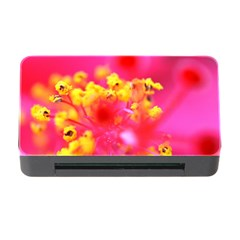 Bright Pink Hibiscus Memory Card Reader with CF