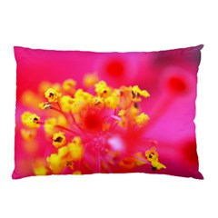Bright Pink Hibiscus Pillow Cases (two Sides)