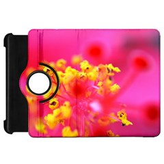 Bright Pink Hibiscus Kindle Fire Hd Flip 360 Case