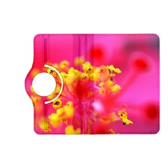 Bright Pink Hibiscus Kindle Fire HD (2013) Flip 360 Case