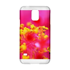 Bright Pink Hibiscus Samsung Galaxy S5 Hardshell Case