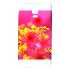 Bright Pink Hibiscus Galaxy Note 4 Back Case