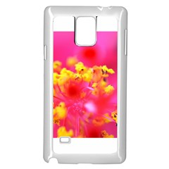Bright Pink Hibiscus Samsung Galaxy Note 4 Case (White)