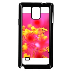Bright Pink Hibiscus Samsung Galaxy Note 4 Case (Black)