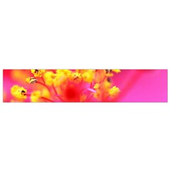 Bright Pink Hibiscus Flano Scarf (Small)
