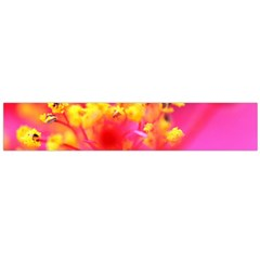 Bright Pink Hibiscus Flano Scarf (Large)