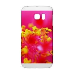 Bright Pink Hibiscus Galaxy S6 Edge