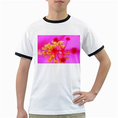 Bright Pink Hibiscus 2 Ringer T-Shirts