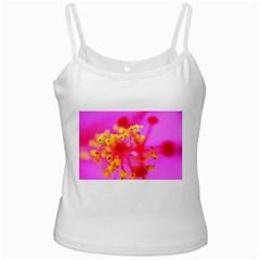 Bright Pink Hibiscus 2 Ladies Camisoles
