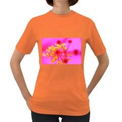 Bright Pink Hibiscus 2 Women s Dark T Shirt